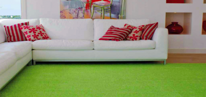 Artificial grass for indoor living