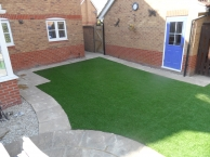 Artificial grass is a neat and tidy alternative to natural grass